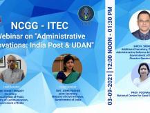 NCGG ITEC Webinar  India Post & UDAN