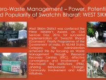Zero Waste Management- Power, Potential and Popularity of Swachh Bharat, West Sikkim, Sikkim