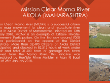 Mission Clean Morna River in Akola District- Maharashtra