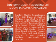 Sanitary napkin repackaging Unit-Siddhi, Madhya Pradesh