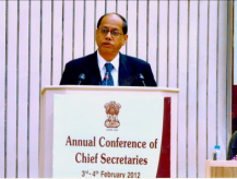 Annual Conference of Chief Secretaries 2012