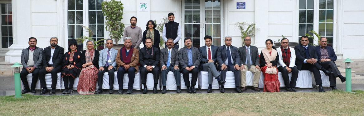 Secretary, Department of Administrative Reforms & Public Grievances, Dr. Kshatrapati Shivaji with Chairman and Jury Members for National e-Governance Awards 2020 to be presented during the 23rd National Conference on e-Governance