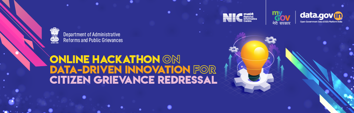 Online Hackathon on Data-Driven innovation for citizen grievance redressal.